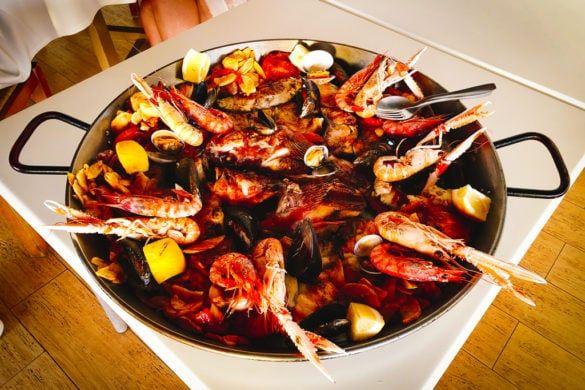 beste visrestaurant ibiza menu vis zeevruchten kreeft schaaldieren paella