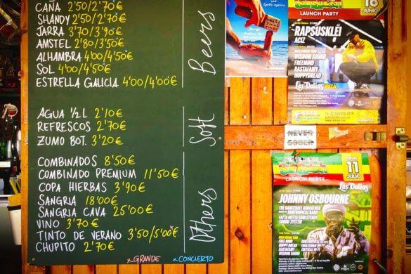 chirincana ibiza hippie strand bar restaurant camping