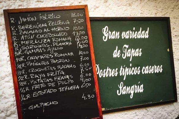 Tapas: Rincon de Pepe