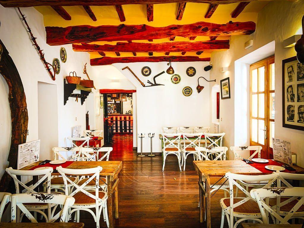 can pere celler restaurant santa eularia