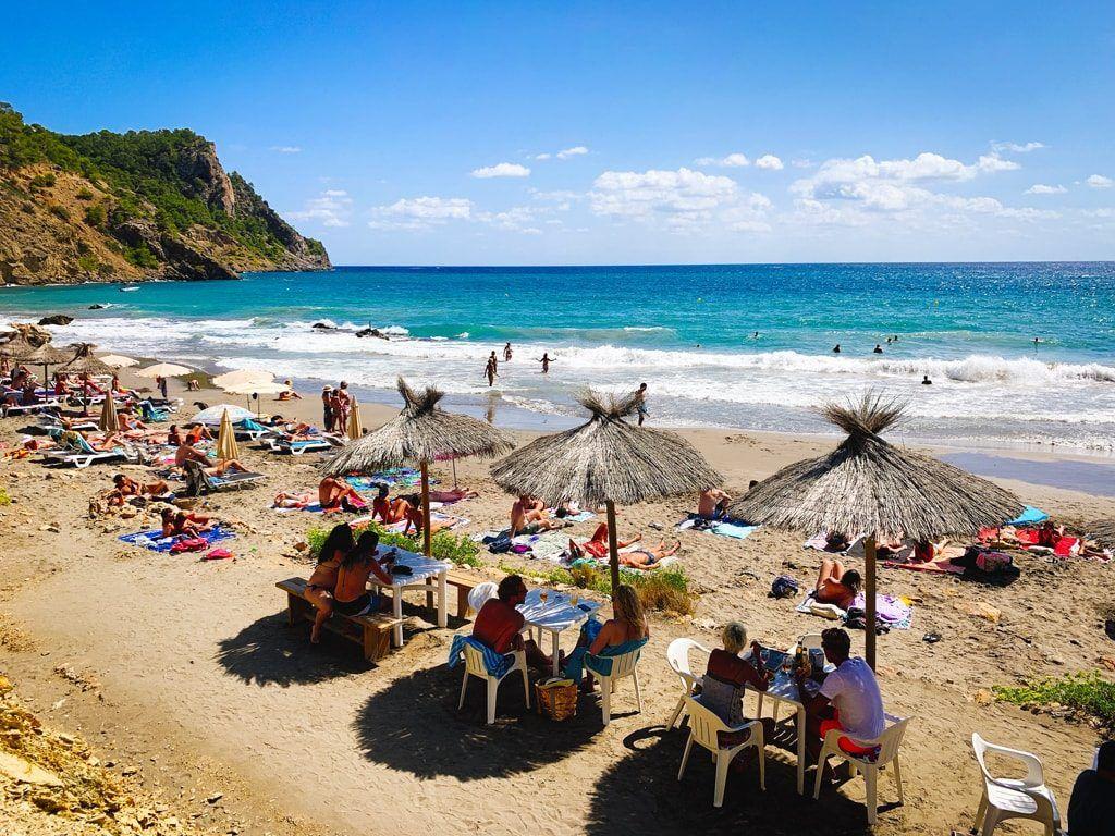 cala boix strand ibiza baai noorden