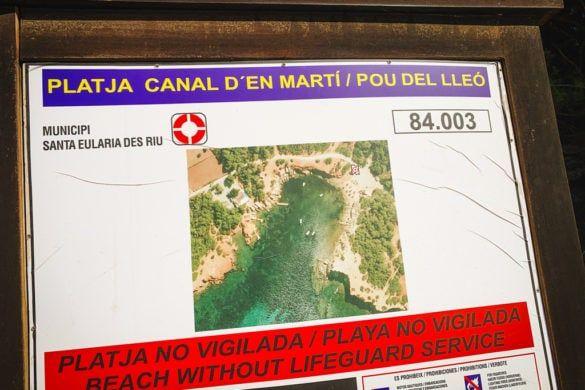 Pou des Lleó ibiza strand baai