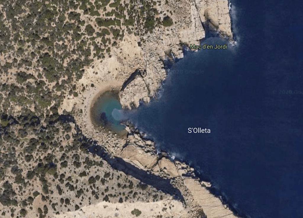 playa s'Olleta ibiza geheim strand baai secret beach