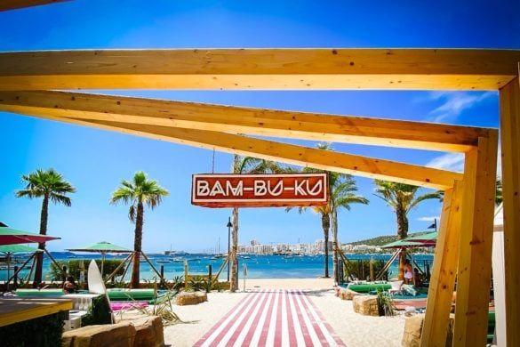 bam-bu-ku nieuwe beach club strand bar ibiza