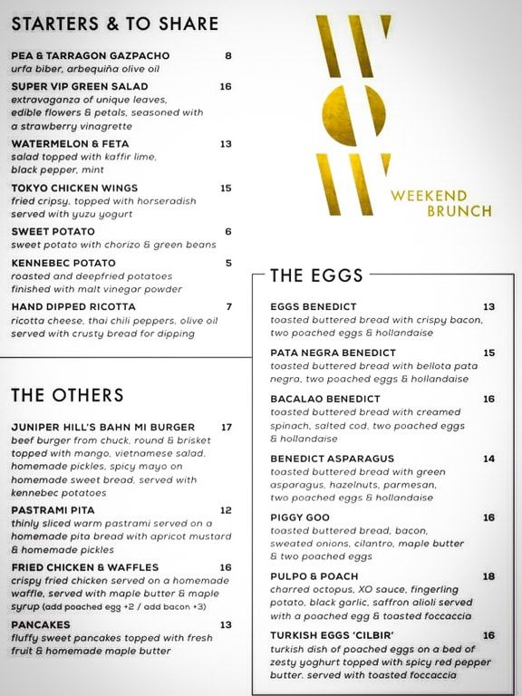 menu wow ibiza